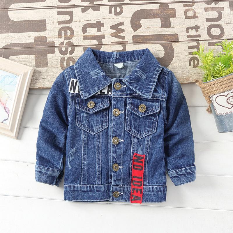 6bab7077a 2019 Spring Denim Boys Jackets Kids Blue Autumn Boys Coat For 1 2 3 4 5 6  Years Old Kids Clothes For School RKC185042 Boys Rain Jacket Boy Jackets  From ...
