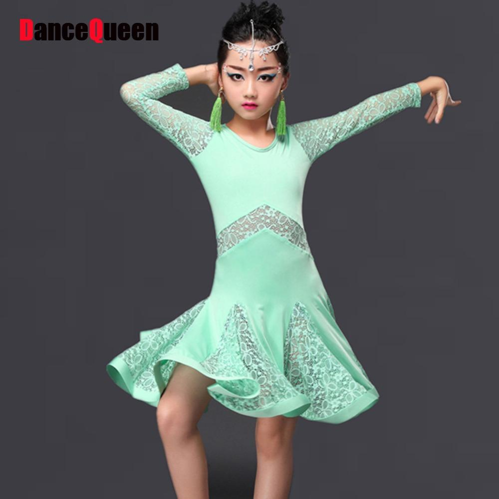 963d4e30f277a 2019 2017 Children Girl Kids Latin Dance Dresses Ice Silk&Lace Vestido  Baile Latino Latin Girl Dance Dress Costume For From Primali, $48.68 |  DHgate.Com