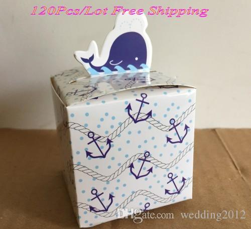 Wedding And Party Favor Box Of Dolphin Design Gift For Baby Shower Birthday Money Card Holder From