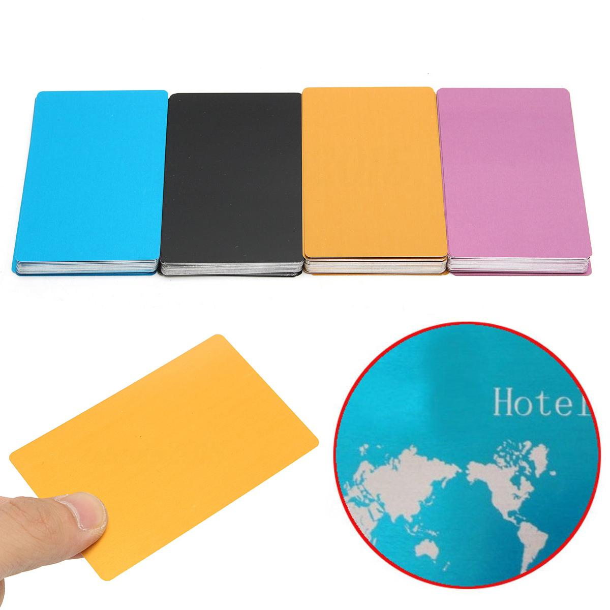 New Colorful Aluminum Alloy Laser Marking Business Card Blank