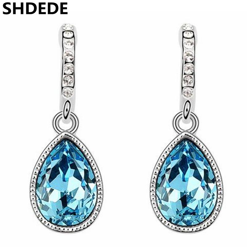 c1d977952 Wholesale Water Drop Earrings Crystal from Swarovski Women Fashion Jewelry  Earrings Accessories Party Gift -6384 Online with $31.48/Pair on  Shuangyin004's ...