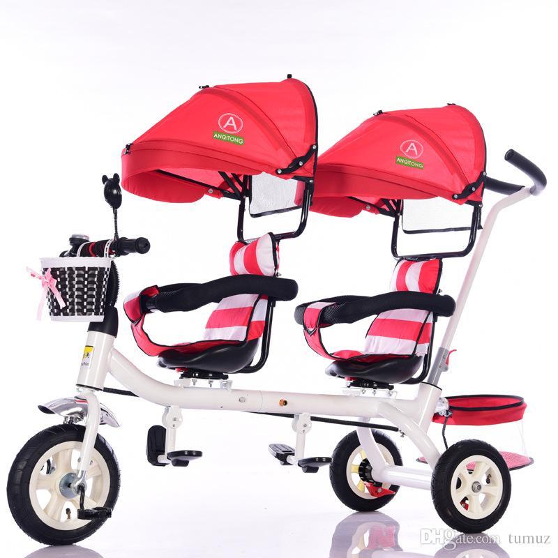 a6c2f8564 Compre Triciclo Doble Premium Para Niños, Gemelos, Carrito, Asiento ...