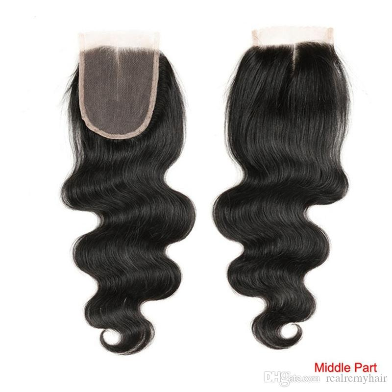 Offerte giornaliere Brazilian Body Wave 3 Bundles con chiusura Remy Cheap Hair Weaves Extensions con Top Lace Closure Hair Weures