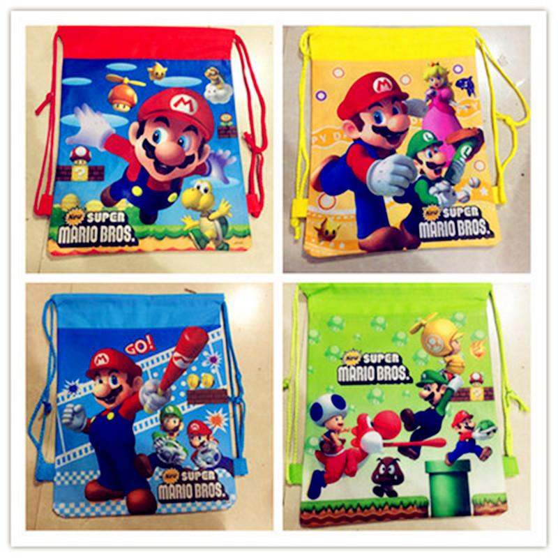 Super Mario Bros Them Party Gift Bag Cartoon Backpack Drawstring Bags Kids  Travel Storage Shoes Bags Birthday Party Favor Wedding Gifts Favors Wedding  Gifts ... 53856ce20e38
