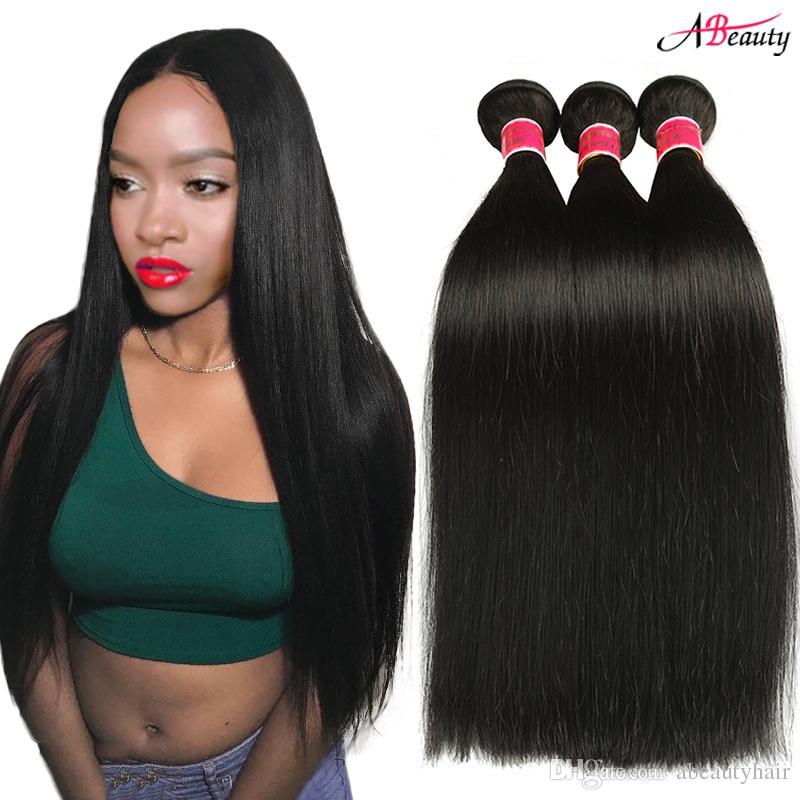 8a Mink Brazilian Straight Hair Bundles 100 Human Hair Bundles
