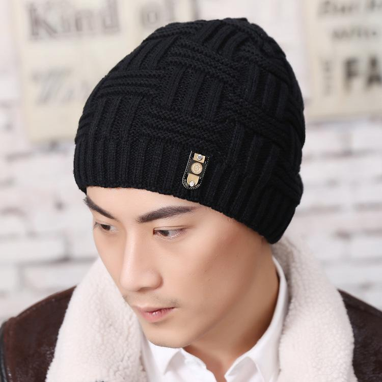 3ead6656d04 Casual Beanies For Men Women Fashion Knitted Winter Hat Solid Color ...