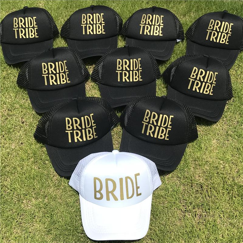 TEAM BRIDE TRIBE Woman Snapback Caps Hip Hop Branded Baseball Hats Bone Mesh  Wedding Party Man Beach Gold Print Casquette Cap Shop Flexfit Caps From ... a5d60dede82d