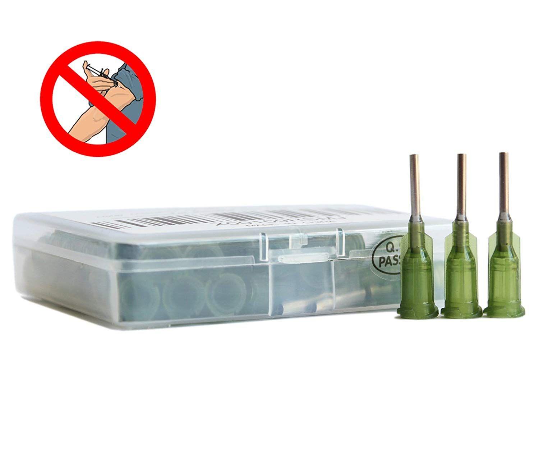 wholesale 14G W/ ISO standard Dispensing needles PP luer lock hub 0 5-inch  tubing length precision S S  dispense blunt tips