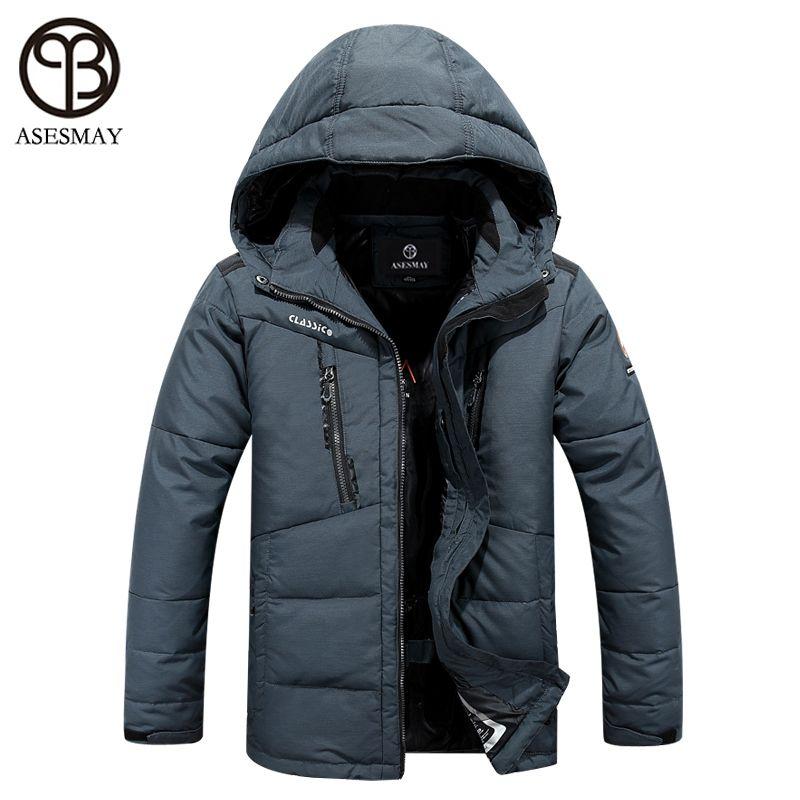 Asesmay Brand New Snow Winter Piumino Cappotti invernali da uomo Giacca a vento spesso Giacche Wellensteyn Uomo Parka Cappotto caldo spessa