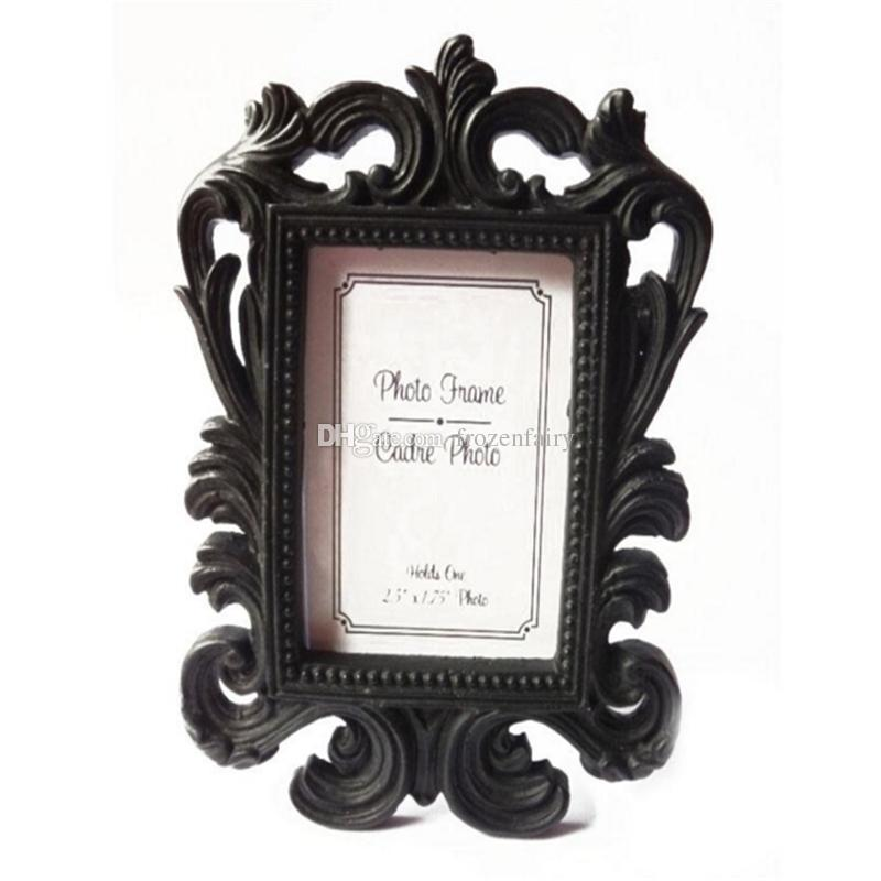 Victorian Style Resin White&Black Baroque Picture/Photo Frame Place ...