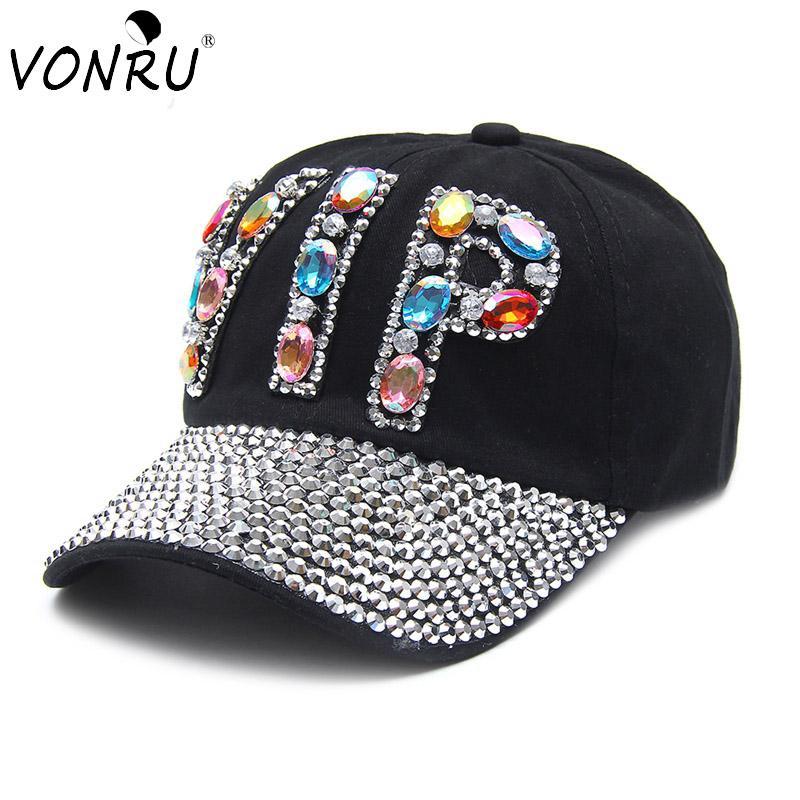 43e706aad06 VONRU Colorful VIP Denim Baseball Cap Women Bling Rhinestone Hip Hop Causal  Adjustable Snapback Hats For Women Bone Caps Flat Caps For Men Womens  Baseball ...