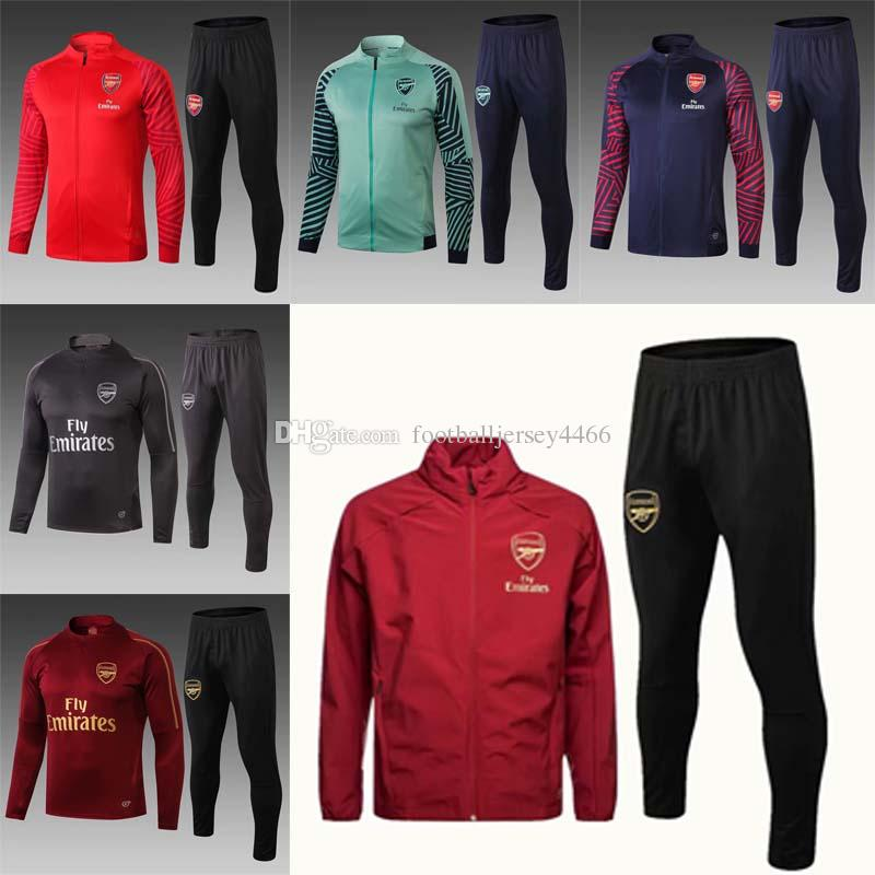 4d6b6f248cc Shipping new18 19 season ARSENAL jersey training suit 2018 2019 home  tracksuits soccer jersey No. 10 Özil 8 Ramsey training suit