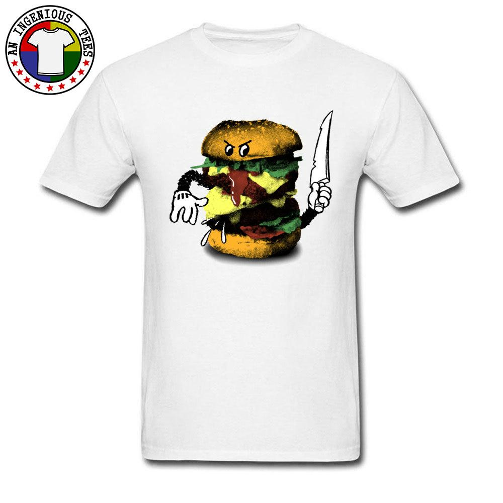 d04b2f6c7 Funny Design Burger Slayer Print Cartoon T Shirts For Men White Cool Design  Tees On Sale Men's Casual Loose Tall Size Tshirt
