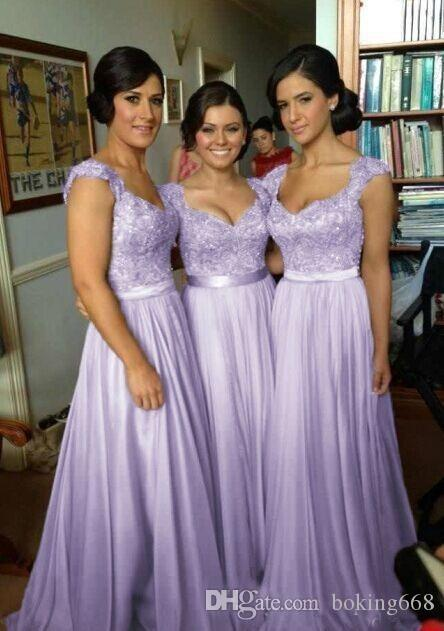 3de497ddaacc 2018 Hot Selling Purple Lilac Lavender Bridesmaid Dresses Lace Chiffon Maid  Of Honor Beach Wedding Party Dresses Plus SIZE Evening Dresses Affordable  ...