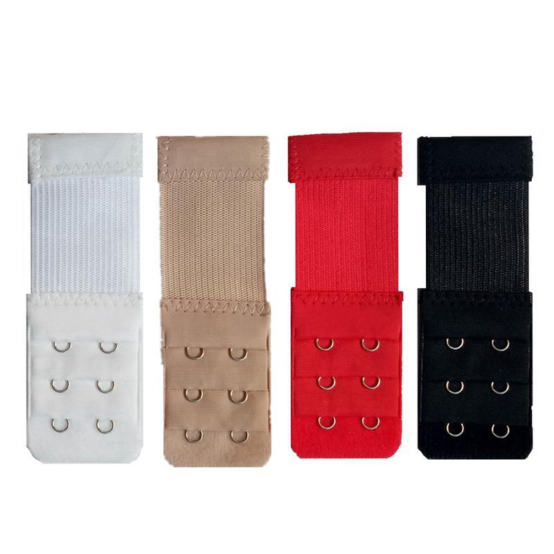 d0ae71a951a5f 4pcs dames 3 rangées 2 crochets soutien-gorge rallonge nylon fermoir  extension élastique sur la sangle soutien-gorge doux bande extender intimes  ...