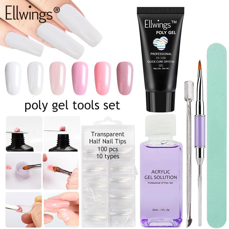 Poly Gel Quick Extend Fast Builder Nail Gel Acrylic Crystal Poly Gel ...