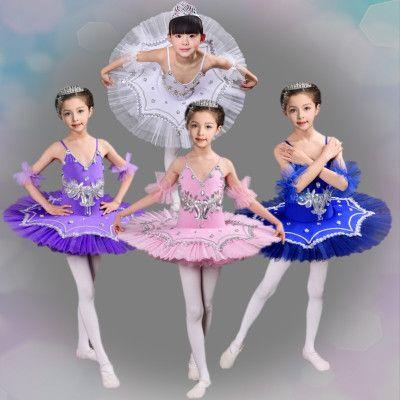 87d1425faae8 White Blue Pink Swan Lake Ballet Costume For Girls Ballerina Dress ...