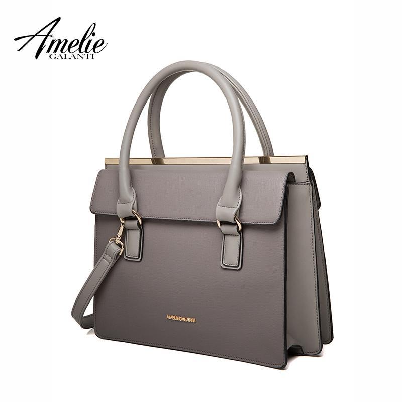 9c7ac8ec401f AMELIE GALANTI New Vintage Women Handbag Solid Hard High Quality Interior  Compartment Versatile Fashion Shoulder Bag Cute Purses Rosetti Handbags  From ...