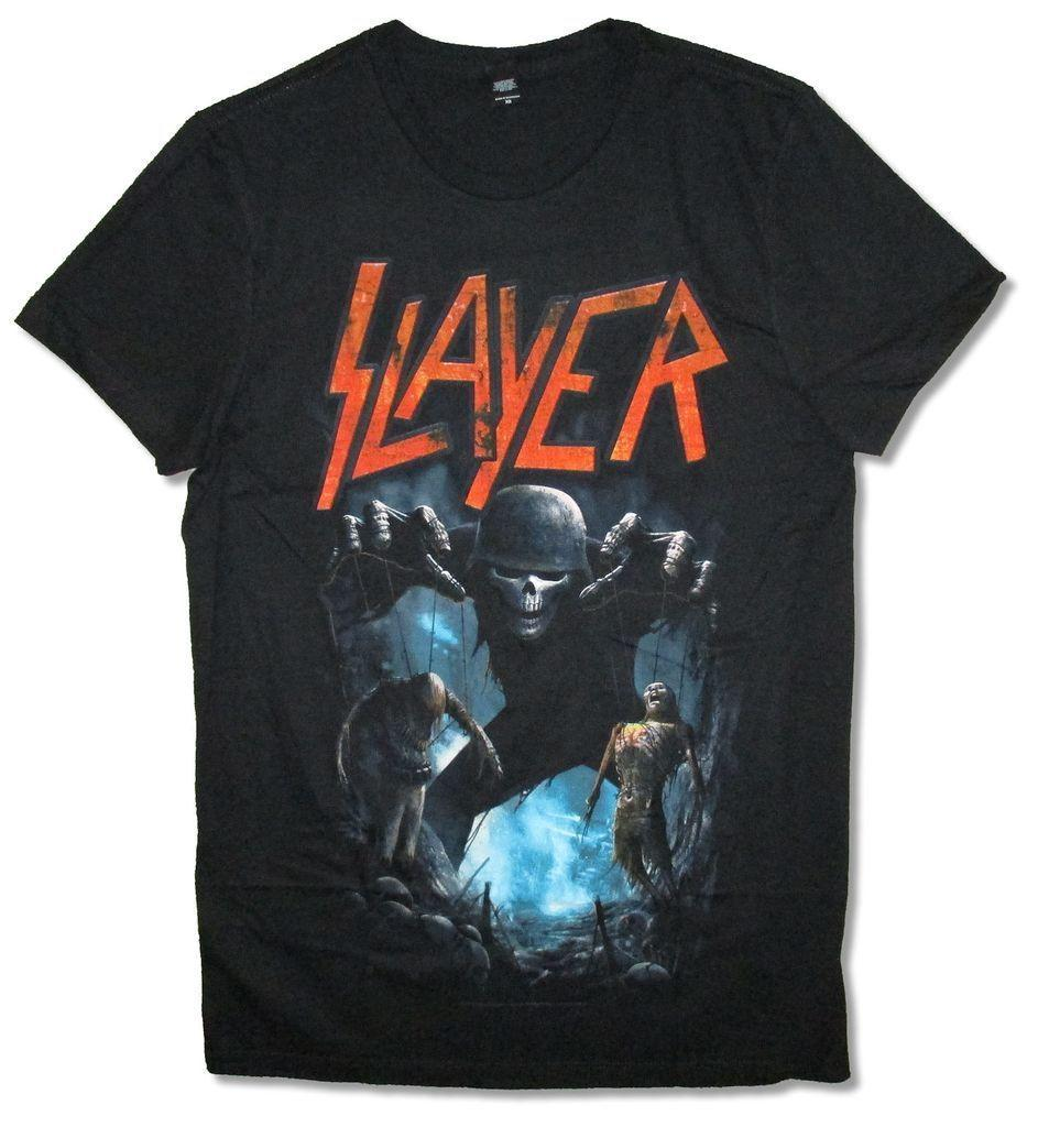 cecf12e1d24 Slayer Puppets Black T Shirt New Official Band Merch Soft Online with   15.56 Piece on Cloudtshirt s Store