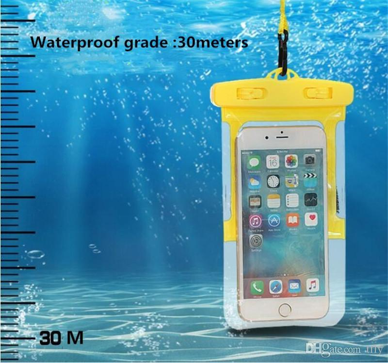 Sport Running Waterproof PVC Bag Case Dry bags Protective universal Phone Bag Pouch with armband belt Diving Swimming For smart phone