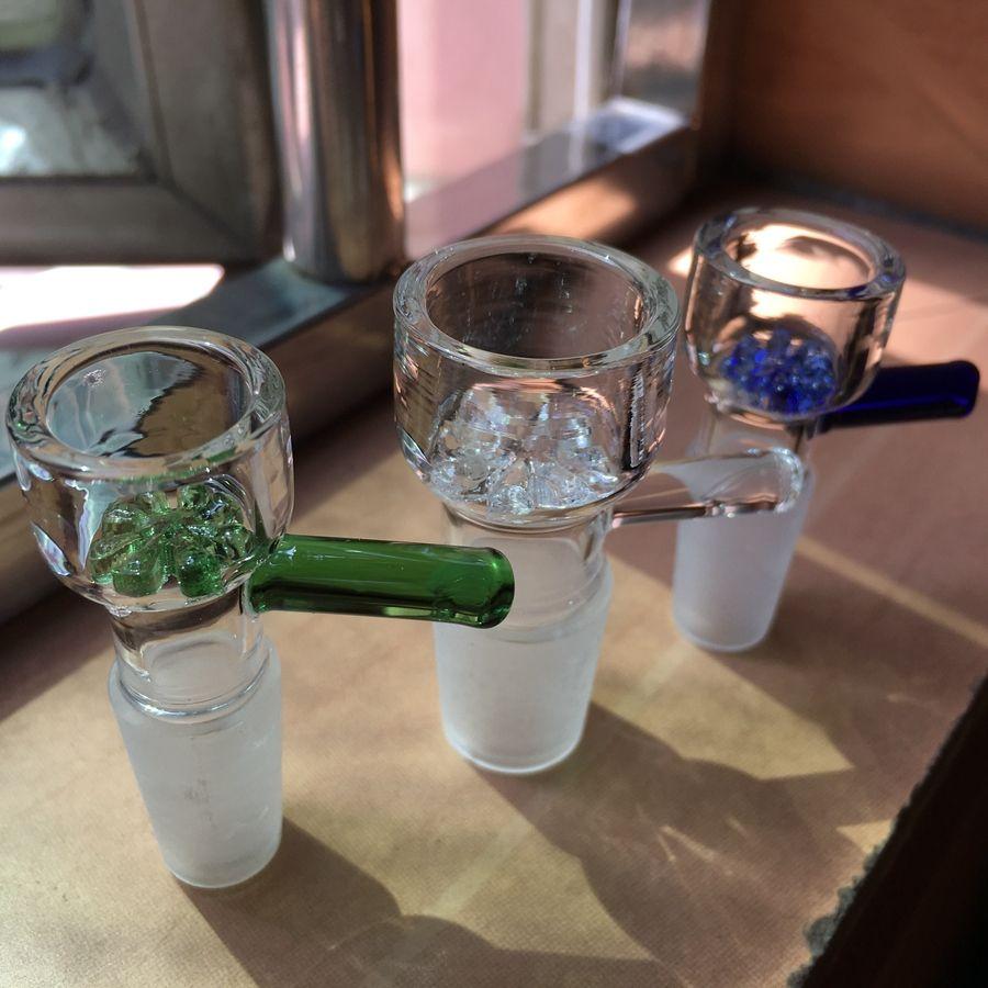Atacado slide taças de vidro 10mm 14mm 18mm com floco de neve tigela de filtro para Bongos de Vidro e Cinza Catcher Vidro fumar Bowl