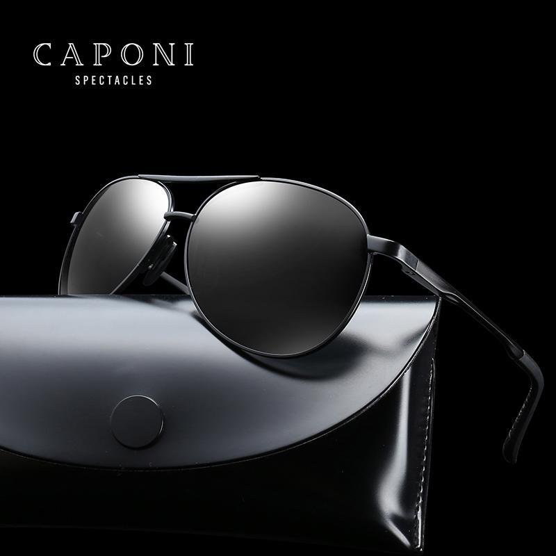 5cb056537b Compre CAPONI Gafas De Sol Polarizadas Clásicas Gafas De Sol De Diseñador  De Marca Hombres Gafas De Sol De Piloto Gafas De Sol Unisex 8013 A $43.98  Del ...