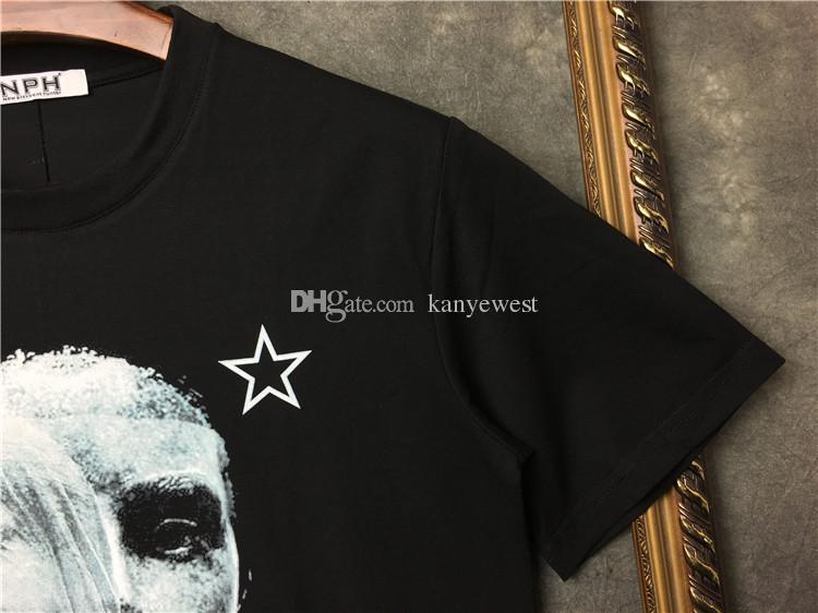 2018 hot Mens T-shirts Men Short Sleeve Casual tshirt Mens Graffiti image pentagram printing Designer T Shirt Cotton Tee Tops