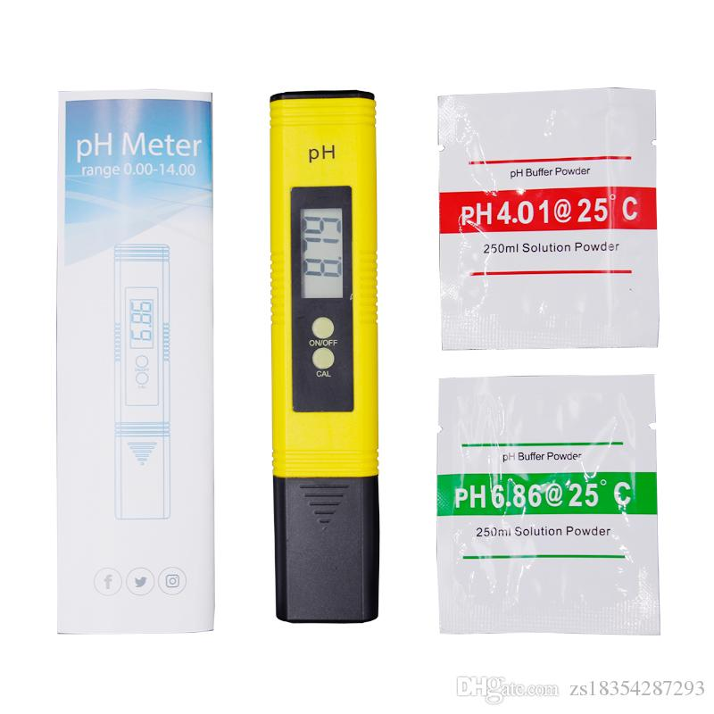 2018 New Protable LCD Digital PH Meter Pen of Tester accuracy 0.01 Aquarium Pool Water Wine Urine automatic calibration Measurement 20% off