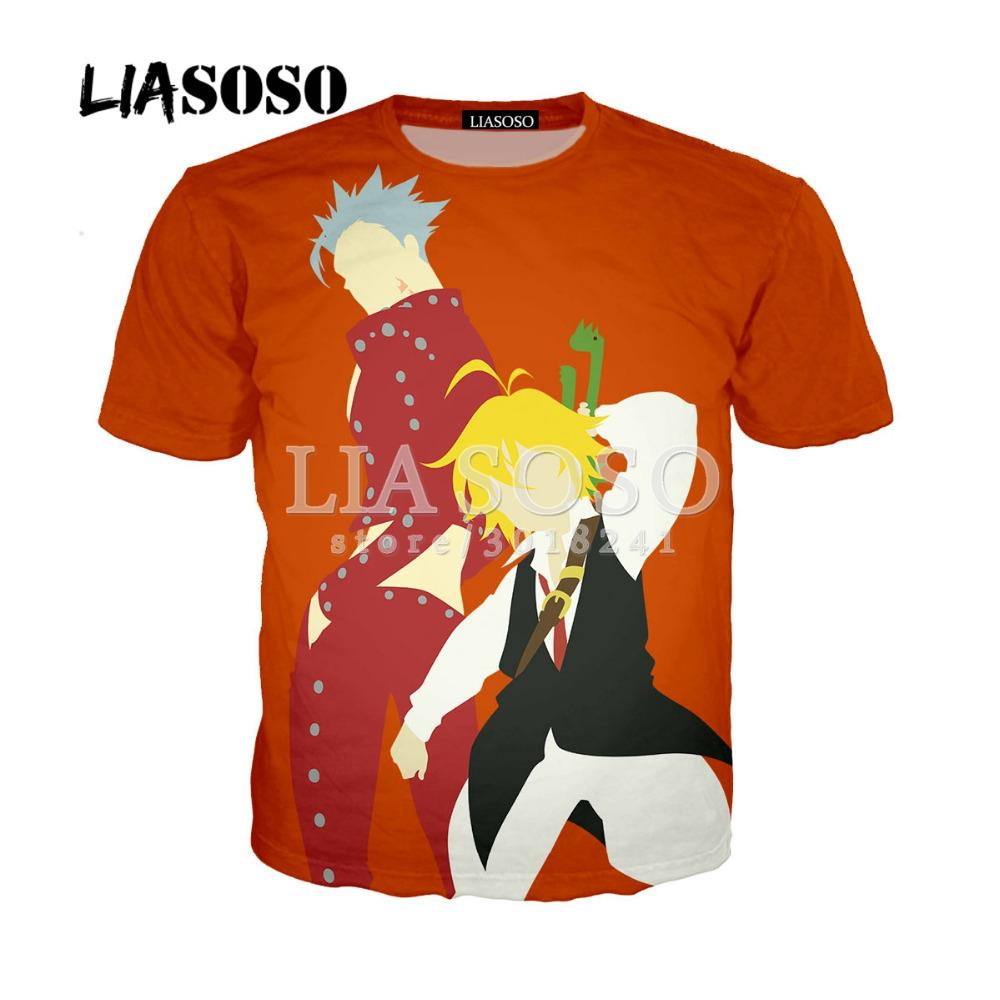 Comics Anime Seven Deadly Sins Unise Short Sleeve Hooded Casual T-shirt Couple T-shirt Collectibles