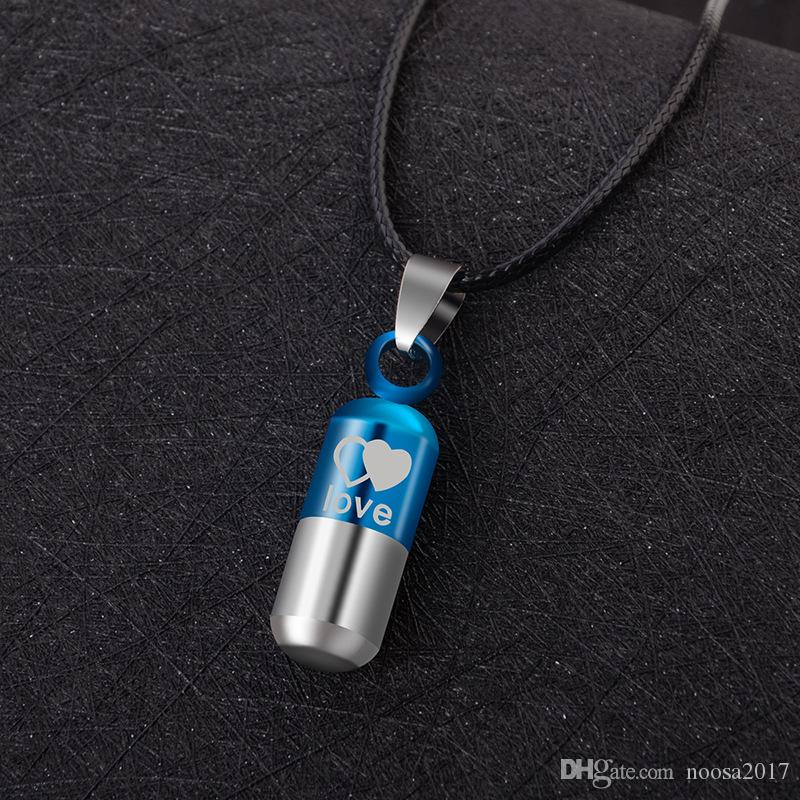 316L титана эфирные масла флакон духов Кристалл Алмаз ожерелье любителей нефти бутылка диффузор медальон кулон может быть открыт капсула кулон