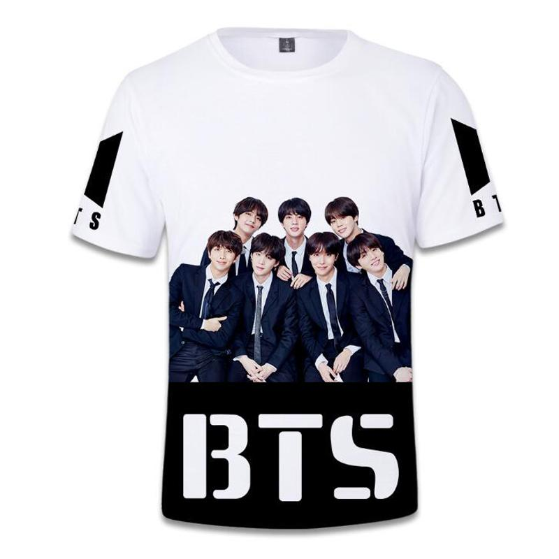 12340d8e77d06 Acquista KPOP BTS 3D T Shirt Oversize Di Grandi Dimensioni Donne Sciolto T  Shirt Girocollo Manica Corta Grafica Magliette Estate Magliette Divertenti  A ...