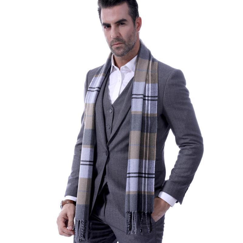 Großhandel Schal Mann Winter Warme Schals Herbst Kaschmir Wie Mode