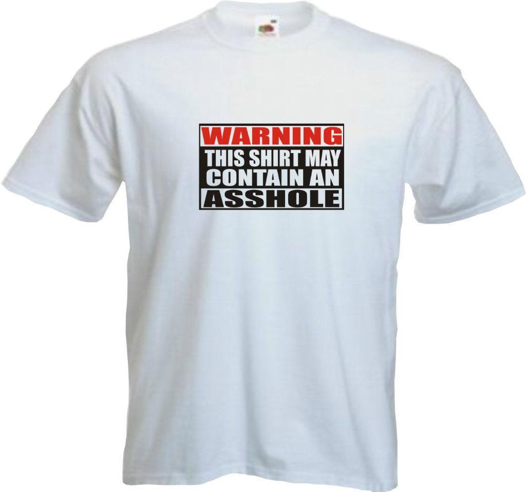 b505dfd9 Mens Funny Offensive T Shirt WARNING MAY CONTAIN AN A**HOLE All Sizes T  Shirts Shopping Really Funny T Shirts From Linnan05, $14.67  DHgate.Com