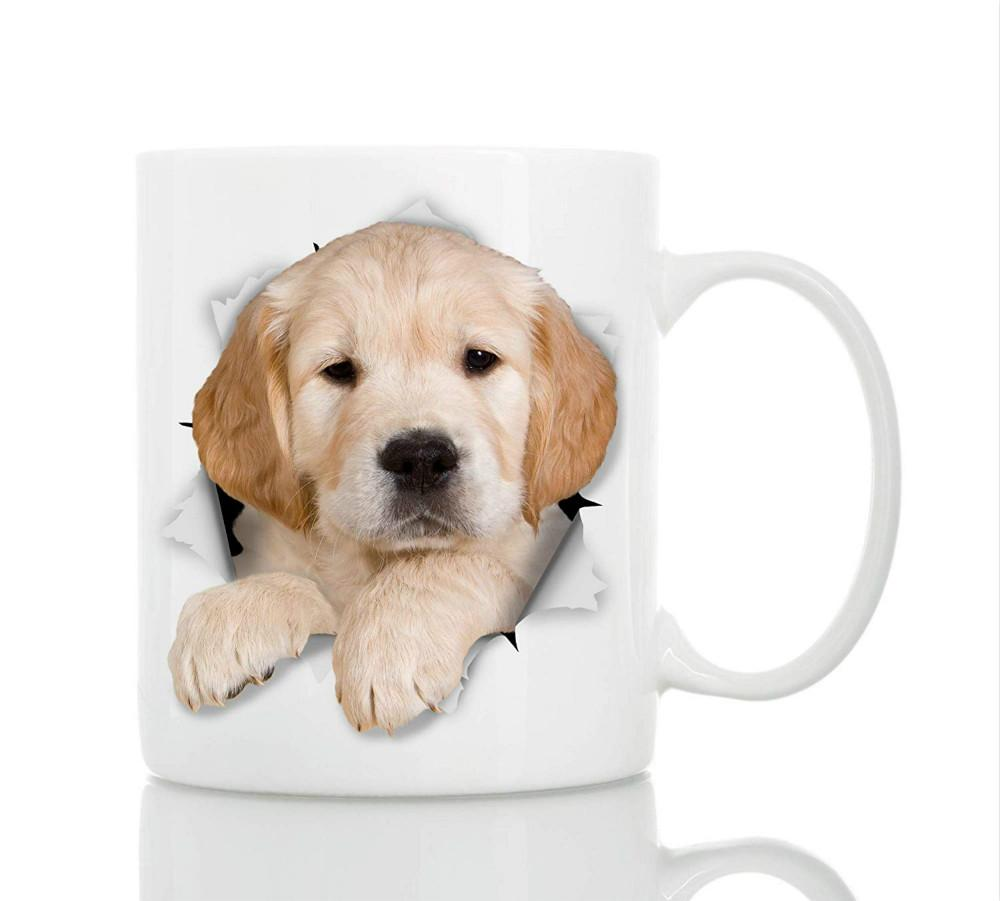 Golden Retriever Puppy Dog Ceramic Funny Coffee Mug Perfect Dog Lover Gift
