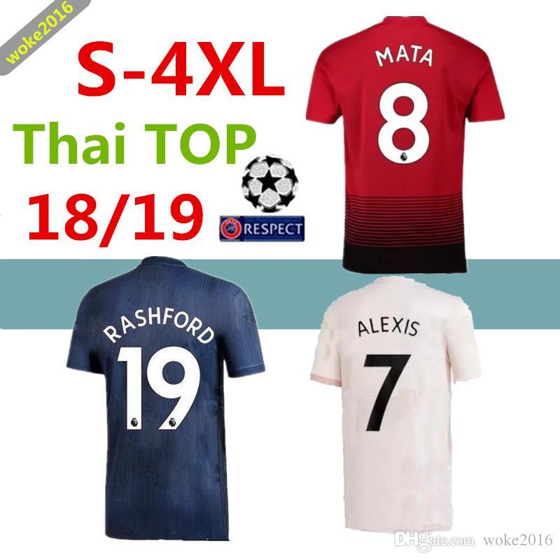 3XL 4XL 18 19 ALEXIS LUKAKU Manchester United Pink Football Shirt ... f3c16be81