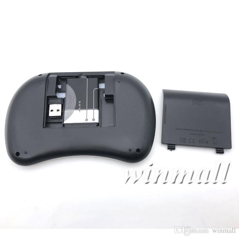 2.4G Rii I8 미니 터치 플라이 에어 마우스 + Rechargeble 배터리 무선 키보드 마우스 터치 패드 TV BOX MXQ pro