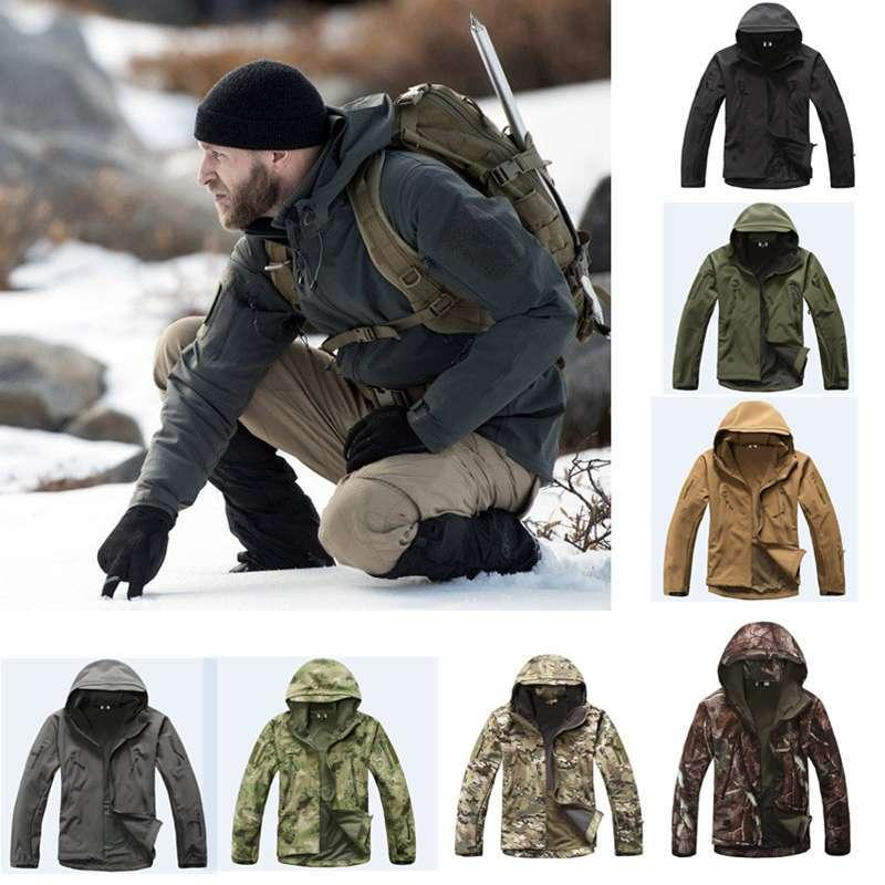 Military Tactical Suits Shark Skin Outdoor Hunting Camping Waterproof Windproof Camouflage Clothing TAD Softshell Jacket Or Pant Y1893006