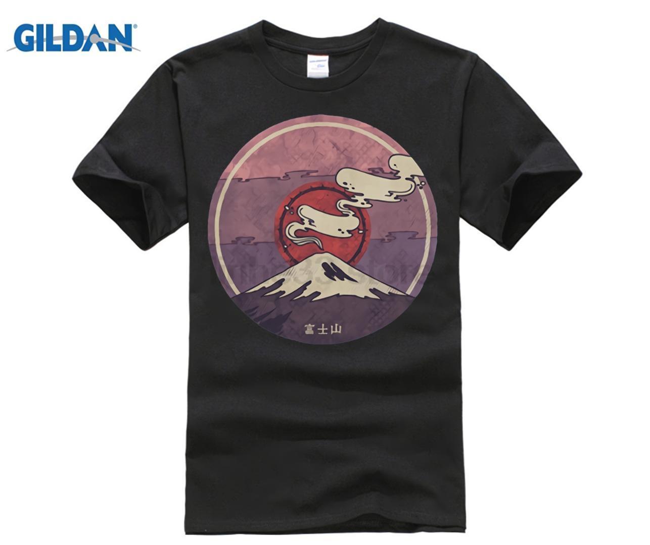 4a167598eed1 Acheter 2018 Dernière Japon Mont Fuji T Shirts Hommes Style D été À Manches  Courtes Impression Tee Shirt Hommes Casual Hipster Tshirt Homme T Shirts De  ...