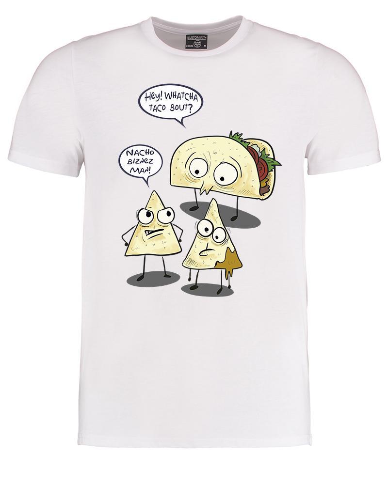 Whatcha taco bout- Funny food pun  Mexican Tex-mex chilli Men's Tshirt  summer Hot Sale Men T-Shirt Top New Tee Print