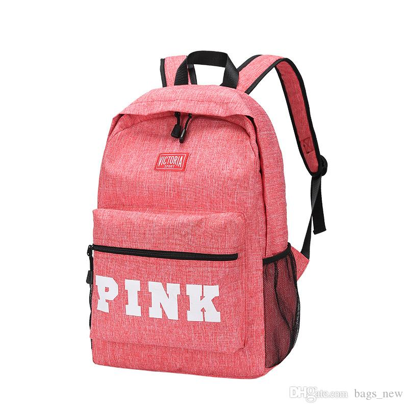 8f2d03b474c7 Fashion Teenagers School Backpacks Girls Travel Laptop Rucksack Backpack  Comfortable Luggage Bags For Women DHLFree Shipping Women Backpack PINK Bag  Travel ...