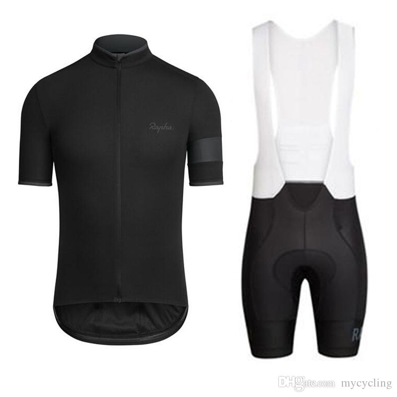 2018 Pro team Rapha Bisiklet Jersey Ropa ciclismo yol bisikleti yarış giyim bisiklet giyim Yaz kısa kollu gömlek sürme F2744