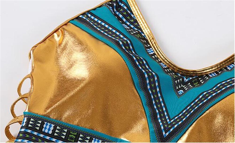 Женщины купальники Европа США тенденция красочные золото красный лоскутное бронзирование печати one piece купальники Сексуальные Девушки благородный шарм Лента эластичность