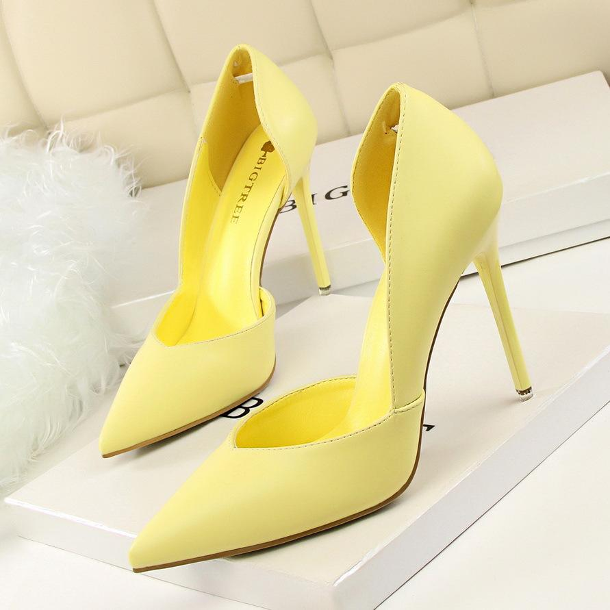 Zapatos Rosa Para Altos Negro Tacones Amarillos Bombas Mujer De Novia Mujeres Ybfgyv67