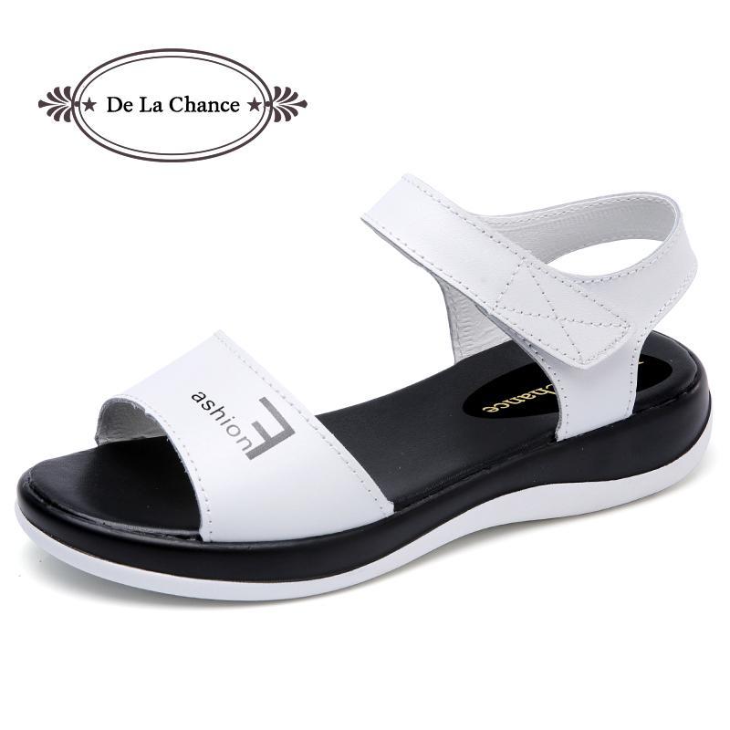 2018 Summer Gladiator Donna Sandals Hook Loop Loop Loop Mujer Shoes Casual 44c724