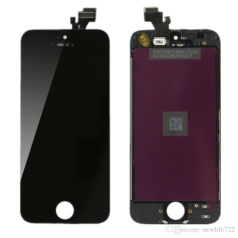 For Iphone 5 5g LCD Assembly With Touch Screen Digitizer Screen Replacement No Dead Pixel DHL