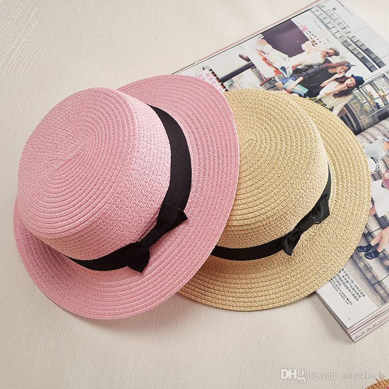6c8ff0b1b8549 Sun Visor Woman Hat Kids Children Straw Beach Hats Panama Hat Summer  Outdoor Cap for Women Sunscreen Cups Sun Hats Caps Sun Visor Beach Hat  Children Straw ...