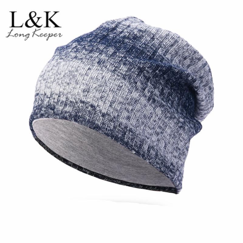 cdd7dcd95b2 Soft Knitted Hat Female Men Cap Women s Cotton Beanies For Girl ...