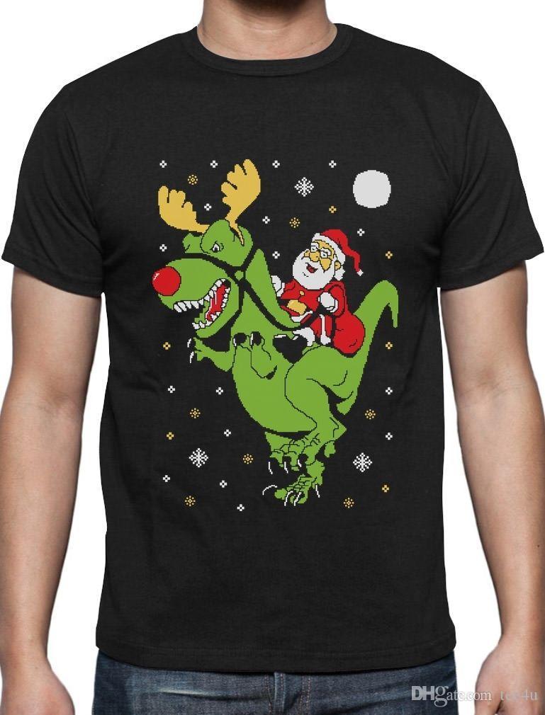 Cool Shirts Designs | Grosshandel Coole T Shirts Designs O Neck Kurze T Rex Santa Fahrt