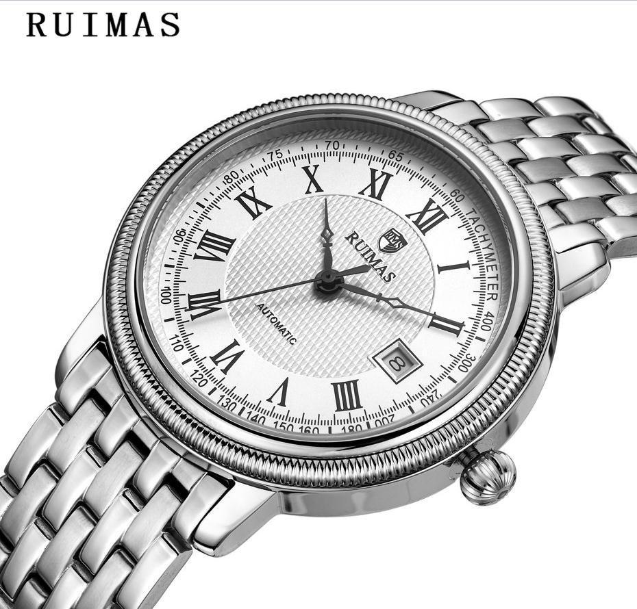 7c06ebc1d8e Compre Homens De Negócios Clássico Relógio De Luxo Automático Relógios  Mecânicos Mens Horas RUIMAS Marca Top Relógios De Aço Masculino Relogio  Masculino De ...