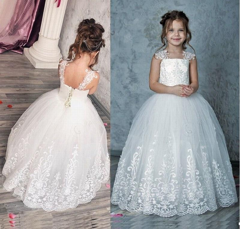 a9b425078 Ivory Flower Girl Dress Birthday Wedding Party Holiday Bridesmaid Flower  Girl Ivory Tulle Lace Dress Xk10 Flower Girl Dresses Size 16 Flower Girl  Dresses ...